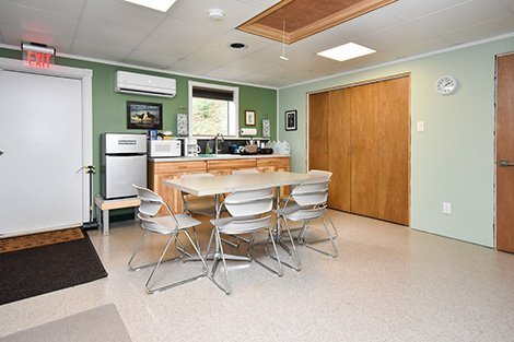 Pet clinic break room.